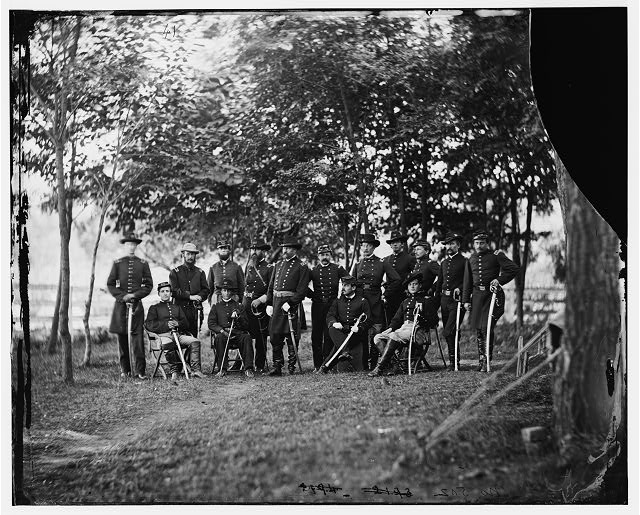 Culpeper, Virginia. Gen. William H. French and staff