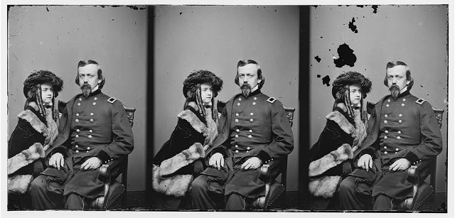 Brig. Gen. Charles P. Stone, & daughter Hettie