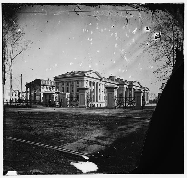 U.S. Treasury. Washington, D.C. Showing old Riggs Hotel, 15th & G. N.W.