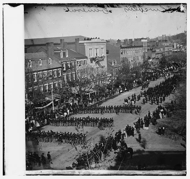 Lincoln's funeral on Pennsylvania Ave.