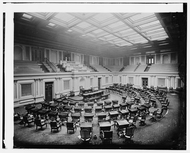 U.S. Capitol - Seventh [i.e, Senate] Chamber, c. 1873