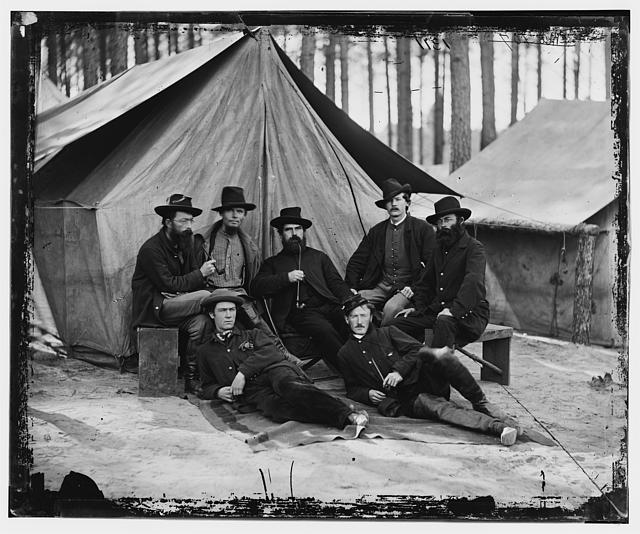 [Petersburg, Virginia. Engineers at H.Q., Army of the Potomac]
