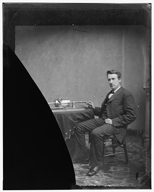 Edison, Thomas A. photo by L.C. Handy 1877