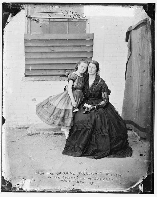 Greenhow, Mrs. & Daughter (imprisoned in old Capitol Prison in Wash. D.C.) Confederate spy