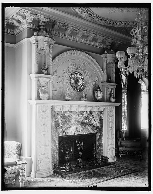 Mantel in the parlor of the Ponce [de Leon Hotel]