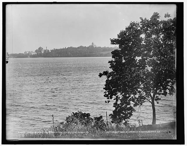 Madison, Wis., view from Picnic Point, Lake Mendota