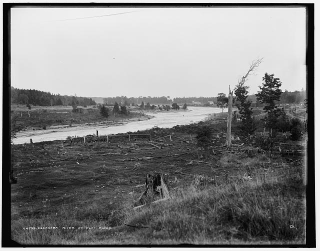 Escanaba River at Flat Rocks [sic]