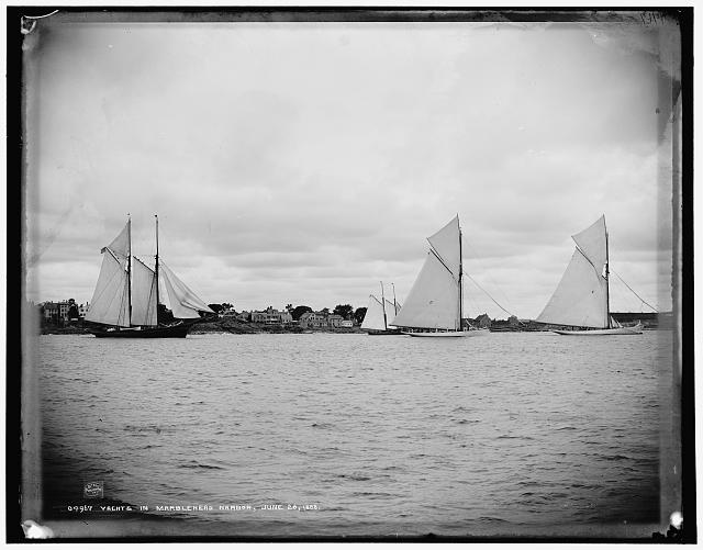Yachts in Marblehead Harbor, June 28, 1888