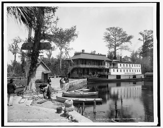 The Okeehumkee at wharf, Silver Springs, Fla.