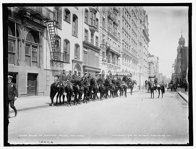Squad of mounted police, New York