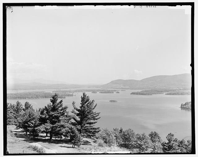 Panorama from Shepard Hill, Asquam Lake, N.H.