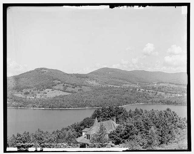 Panorama from Shepard Hill, Asquam Lake, N.H.