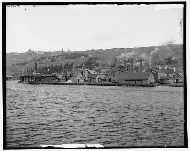 Quincy Hill and smelters, Hancock, Mich.