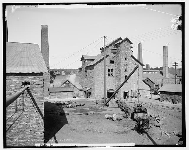 Calumet and Hecla smelters, Lake Linden, Mich.