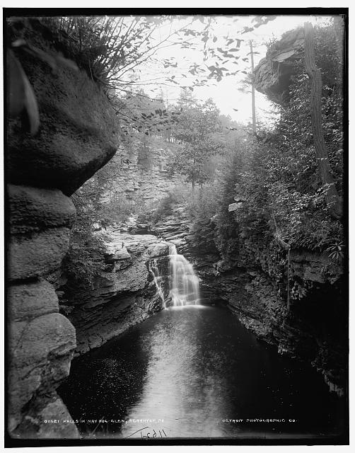 Falls in Nay Aug Glen, Scranton, Pa.