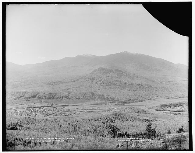 Presidential Range from Mt. Hayes, Gorham, White Mountains