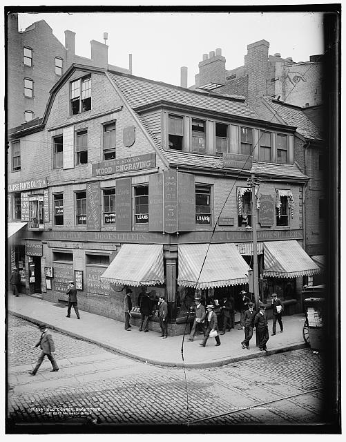 Old Corner Bookstore, first brick building in Boston