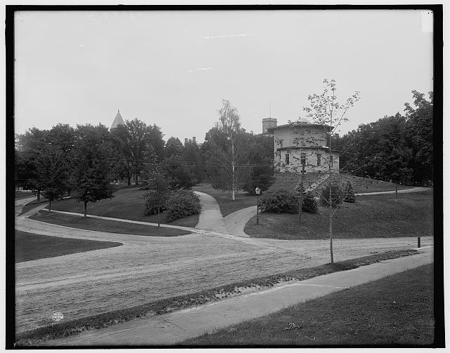 [View from library, Amherst College, Amherst, Mass.]