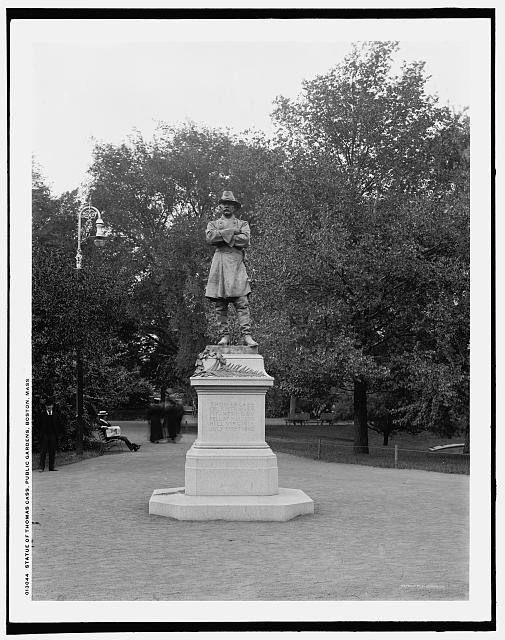 Statue of Thomas Cass, Public Gardens [i.e. Garden], Boston, Mass.