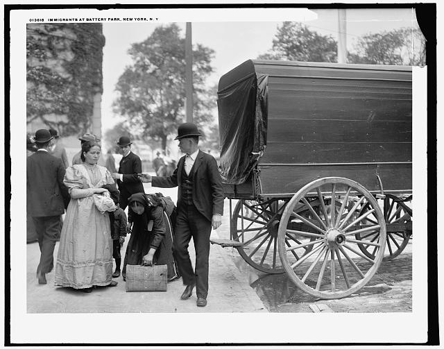 Immigrants at Battery Park, New York, N.Y.