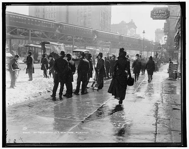 On the streets in a New York blizzard