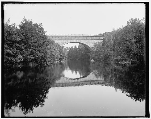 Echo Bridge, Charles River, Newton, Mass.