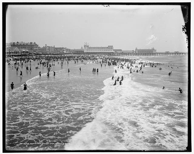 The Beach from Young's Pier, Atlantic City
