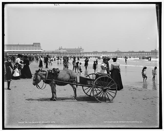 On the beach at Atlantic City