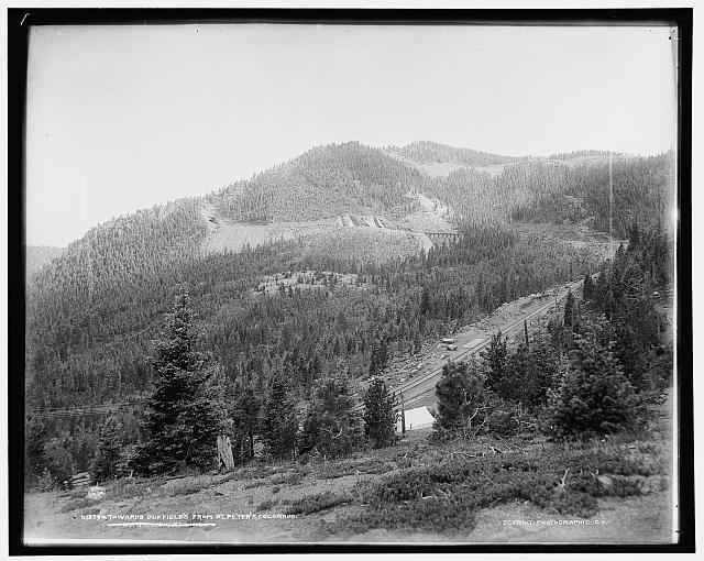 Towards Duffield's from St. Peter's, Colorado, C.S. & C.C. [i.e. Colorado Springs & Cripple Creek] Short Line