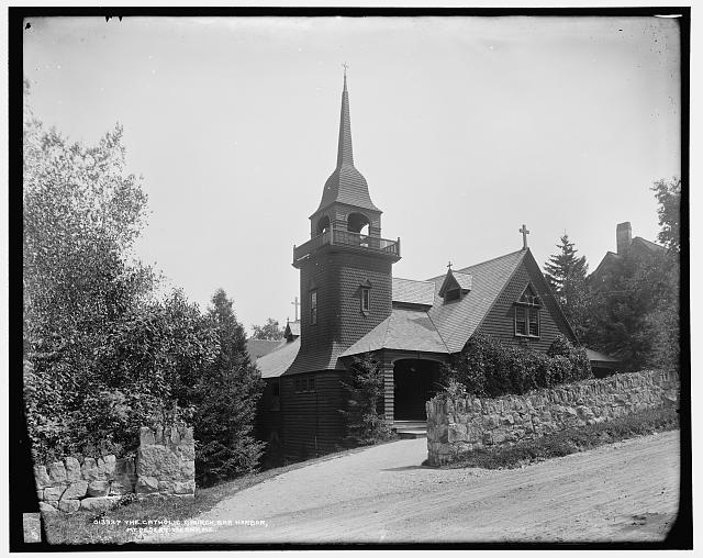 The Catholic Church, Bar Harbor, Mt. [i.e. Mount] Desert Island, Me.