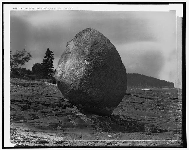 Balance Rock, Bar Harbor, Mt. [i.e. Mount] Desert Island, Me.
