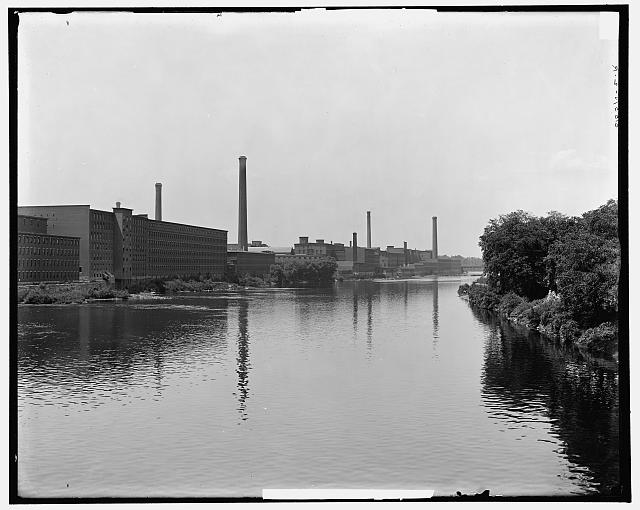 Mills on the Merrimack River, Lowell, Mass.