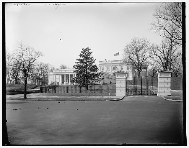 [East portico of the White House, Washington]