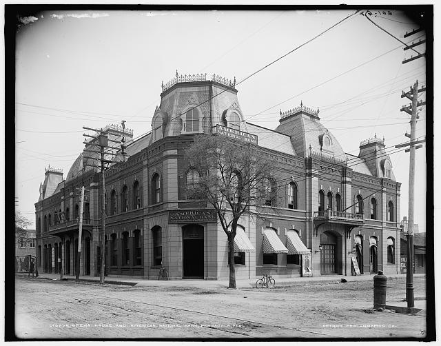 Opera House and American National Bank, Pensacola, Fla.