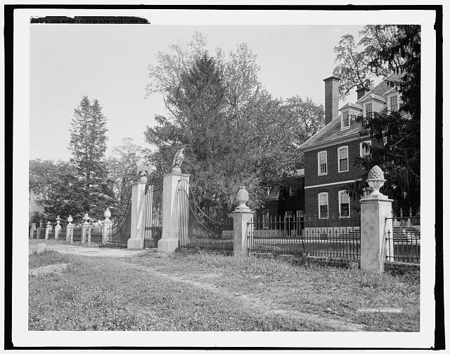 The Mansion (rear view), Westover, Va.