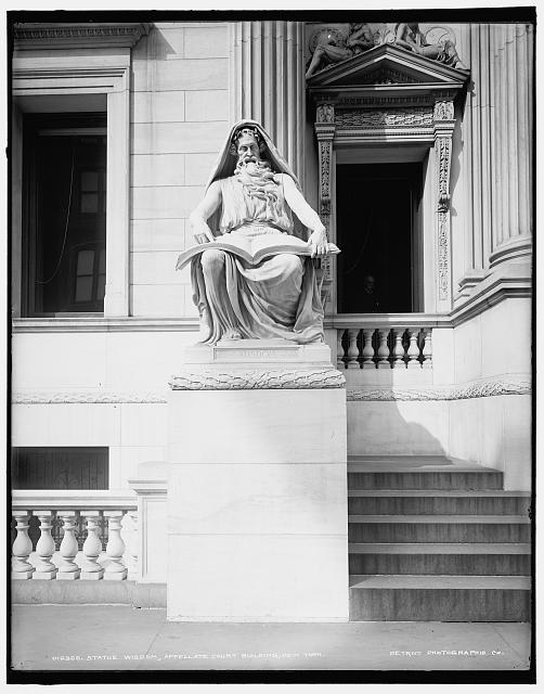 Statue Wisdom, Appellate Court Building, New York