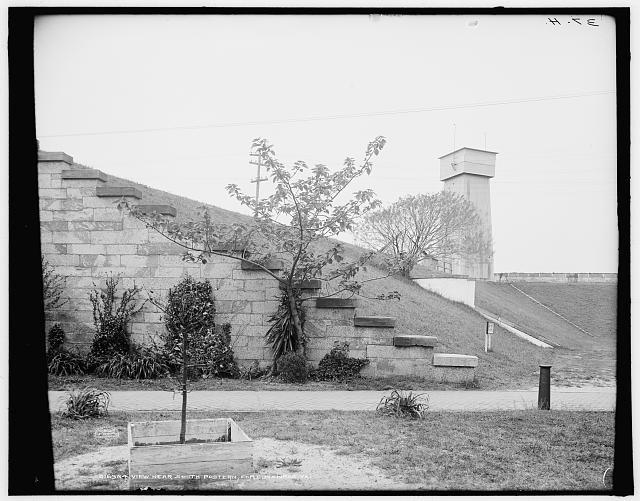 View near south postern, Fort Monroe, Va.