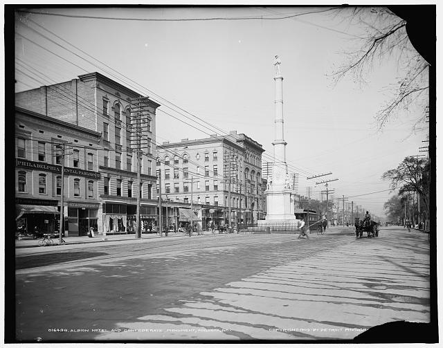 Albion Hotel and Confederate Monument, Augusta, Ga.