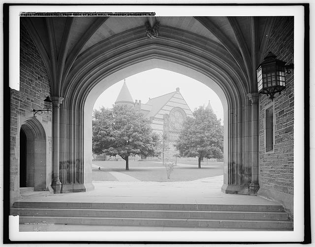 Alexander Hall from arch of Blair Hall, Princeton University, N.J.