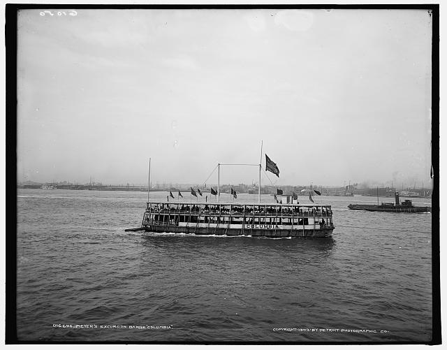 Meyer's excursion barge Columbia