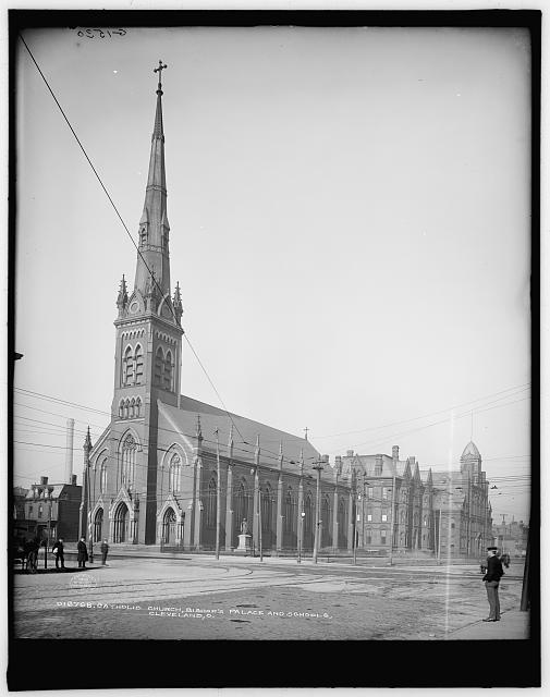 Catholic Church, Bishop's palace and schools, Cleveland, O[hio]
