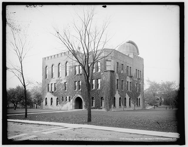 Physical laboratory, Adelbert College, Cleveland, O[hio]