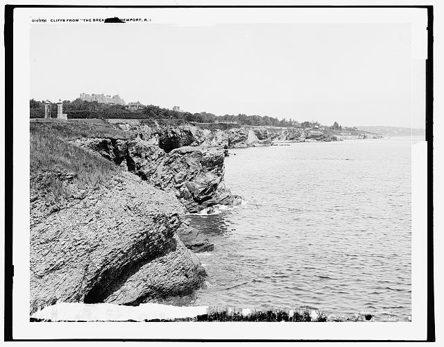 Cliffs from the Breakers, Newport, R.I.