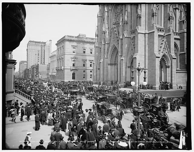 Easter crowds on Fifth Avenue, New York