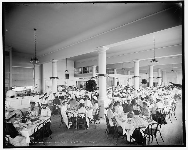 Girls' luncheon, Natural Food Conservatory, Niagara, N.Y.