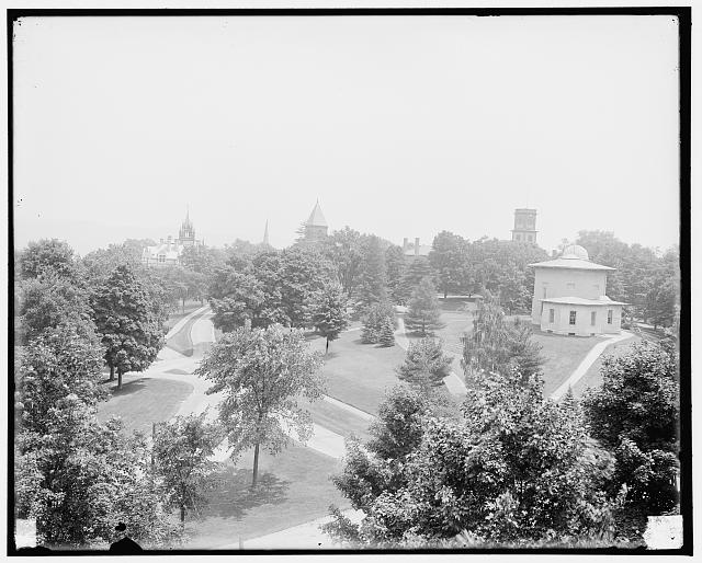 The Campus, Amherst College, Amherst, Mass.; image from the Library of Congress Prints and Photographs Division