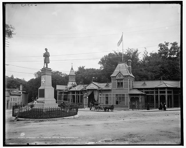 Entrance to Congress Spring Park, Saratoga, N.Y.