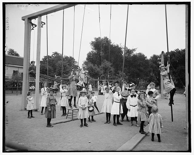 Girls' playground, Harriet Island, St. Paul, Minn.