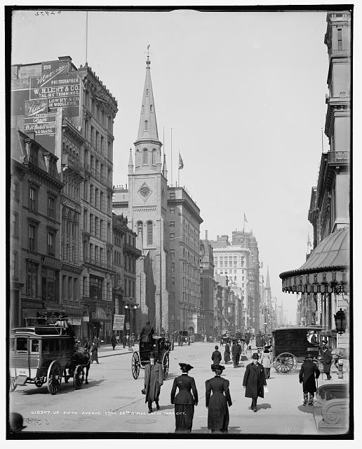 Up Fifth Avenue from 28th Street, New York, N.Y.