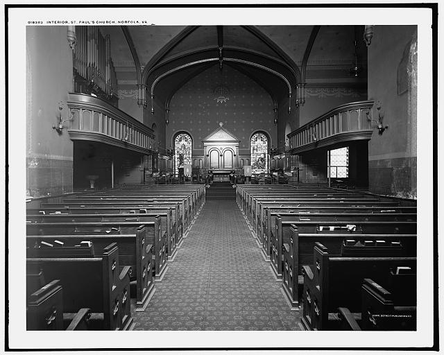 Interior, St. Paul's Church, Norfolk, Va.